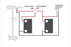 Схема подключения троллингового электромотора