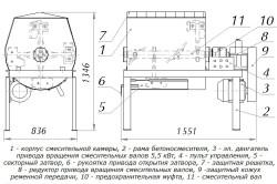 Схема бетоносмесителя с электроприводом