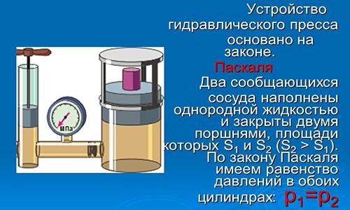 Принцип работы гидропресса