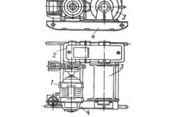 Схема лебедки с электрическим приводом