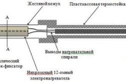 Схема мини-паяльника с нихромовым нагревательным элементом