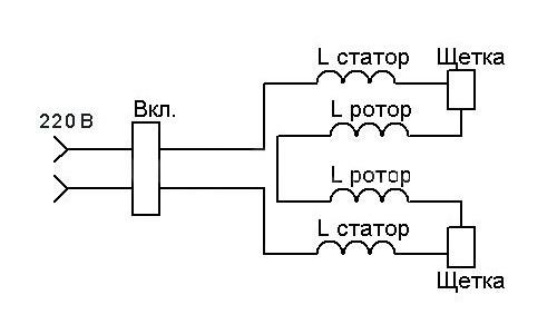 Принципиальная электросхема болгарки