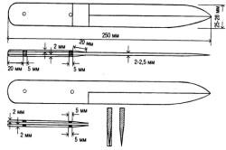 Размеры ножа из напильника