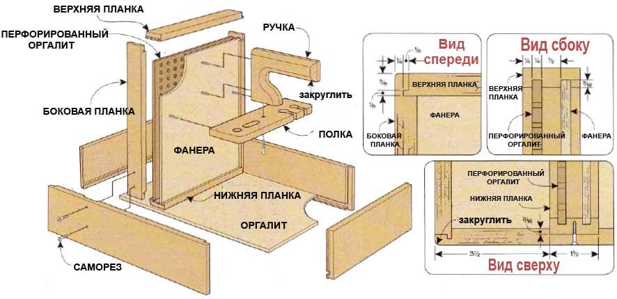 Деревянные ящики для инструментов своими руками
