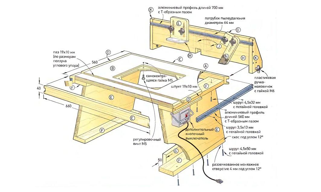 Циркулярный стол своими руками чертежи
