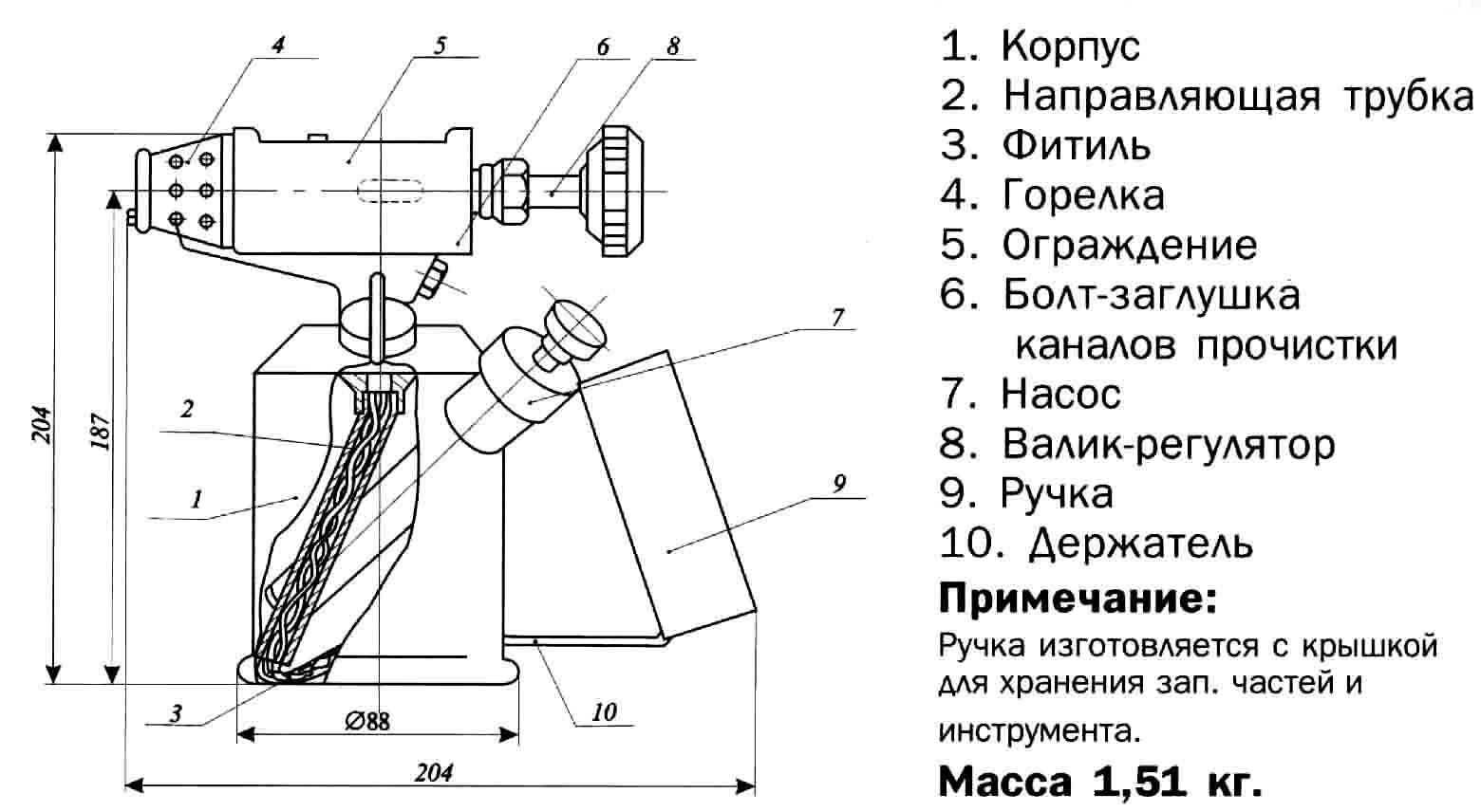Инструкция по пользованию паяльной лампы