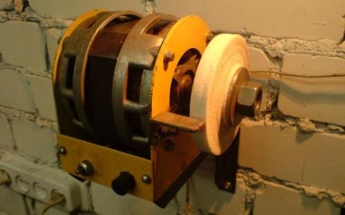Наждак из двигателя ненужной стиральной машины