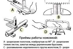 Приемы работы ножовкой