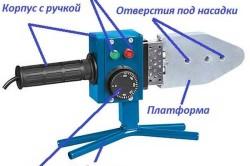 Устройство механического аппарата для сварки полипропиленовых труб