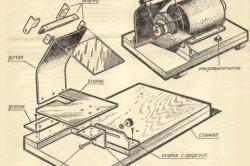 Схема заточно-наждачного станка