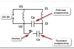 Схема подключения однофазного двигателя с тяжелым пуском