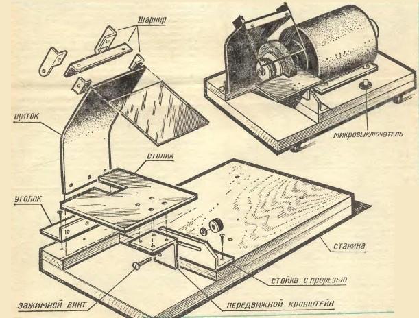 станок для заточки цепей бензопил своими руками, схемы, чертежи